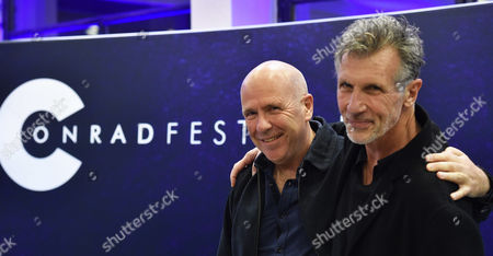 Stock Picture of Australian Novelist Richard Flanagan (l) and Us Writer Michael Cunningham (r) Attend a Meeting with Readers at the 8th Conrad Festival in Cracow Poland 29 October 2016 (issued 30 October) the Leading Motif of This Year's Edition of the Literary Festival is 'Intensity Understood Both As Passion and Unwavering Commitment to the Common Matter of Culture ' Poland Cracow