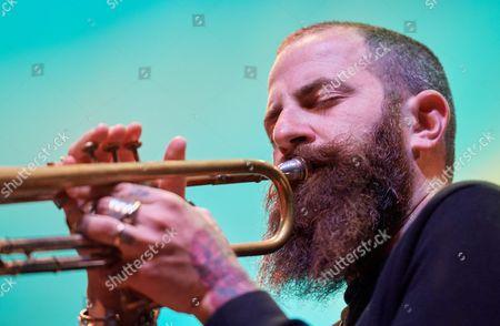 Israeli Trumpeter Avishai Cohen Performs on Stage During a Concert Avishai Cohen Quartet As Part of Jazz Jantar Festival 2016 in Gdansk Poland 10 November 2016 Poland Gda±sk