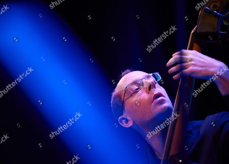 Double Bassist Yoni Zelnik Performs on Stage During a Concert Avishai Cohen Quartet As Part of Jazz Jantar Festival 2016 in Gdansk Poland 10 November 2016 Poland Gda±sk
