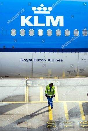 A Royal Dutch Airways (klm) Aircraft Sits at Schiphol Airport Near Amsterdam the Netherlands 16 October 2014 Camiel Eurlings Has Resigned As Ceo of Klm and Will Be Succeeded by His Deputy Pieter Elbers Though the Company Has So Far not Made a Statement As to the Cause of Eurlings Departure Eurling Has Stated That the 500m Costs of the Strikes Recently Experienced by Air France a Company with Which Klm Merged in 2004 Should not Be Paid by Klm Which Has Consistently Outperformed Air France Netherlands Schipol