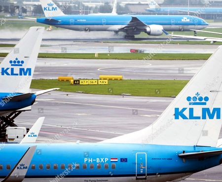 A General View of Royal Dutch Airways (klm) Aircraft at Schiphol Airport Near Amsterdam the Netherlands 16 October 2014 Camiel Eurlings Has Resigned As Ceo of Klm and Will Be Succeeded by His Deputy Pieter Elbers Though the Company Has So Far not Made a Statement As to the Cause of Eurlings Departure Eurling Has Stated That the 500m Costs of the Strikes Recently Experienced by Air France a Company with Which Klm Merged in 2004 Should not Be Paid by Klm Which Has Consistently Outperformed Air France Netherlands Schipol