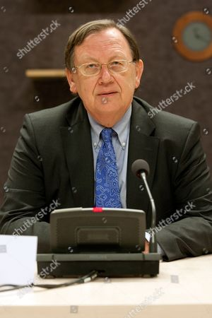 Former Dutch President of De Nederlandse Bank (the Dutch Central Bank) Nout Wellink During the Parliamentary Inquiry Committee on the Financial System in the Hague the Netherlands 27 January 2012 Reports State That the Committee is Examining Crisis Measures Taken by the Dutch Government Between September 2008 and January 2009 to the Problems in the Financial System Netherlands the Hague