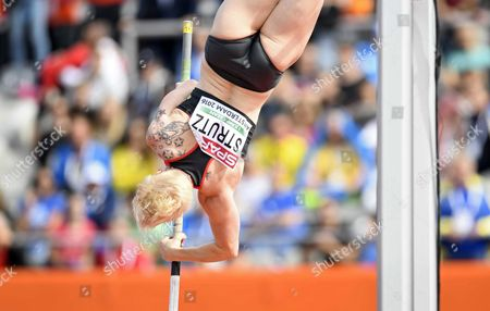 Martina Strutz From Germany Action During the Pole Vault Qualifying at the European Athletics Championships at the Olympic Stadium in Amsterdam the Netherlands 07 July 2016 Netherlands Amsterdam