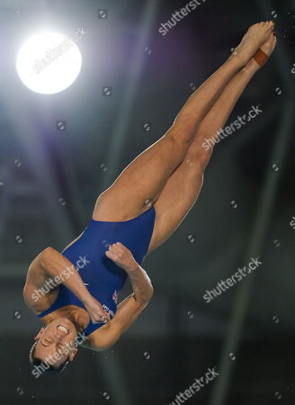 Stock Image of Monique Gladding of Britain Competes During the Women's 10m Platform Final of the European Diving and Synchronised Swimming Championships 2012 at the Pieter Van Den Hoogenband Stadium in Eindhoven Netherlands 16 May 2012 Netherlands Eindhoven