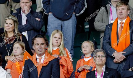 Dutch Queen Maxima (l-r) Princess Alexia Camiel Eurlings Princess Amalia and Princess Ariane and King Willem-alexander During the Final of Men's Tournament Against the Netherlands of the Field Hockey World Cup in the Hague the Netherlands 15 June 2014 Netherlands the Hague