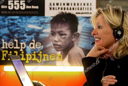 Jet Bussemaker the Netherland's Minister of Education Culture and Science is Part of the the Call Team During the National Action For the Victims of the Philippines at the Dutch Institute For Sound and Vision in Hilversum the Netherlands 18 November 2013 the Dutch Public and Commercial Radio and Tv Stations Will Broadcast to Raise Money For the Victims of the Typhoon in the Philippines Haiyan Giro 555 the Account of the Cooperating Aid Organizations Has Been Opened From 11 November and Has Raised 7 993 096 Euro Netherlands Hilversum