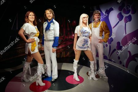 The New Wax Figures of Anni-frid Lyngstad (l-r) Benny Andersson Agnetha Faltskog and Bjorn Ulvaeus From Swedish Band Abba Are Presented to the Public at Madame Tussauds Wax Museum in Amsterdam the Netherlands 10 July 2013 Netherlands Amsterdam
