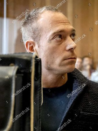 Stock Image of Dutch Gymnast Yuri Van Gelder 33 Awaits the Start of Proceedings at the Courthouse in Arnhem 12 August 2016 Gelder who was Sent Home From the Olympic Games in Rio For Going out and Drinking Beers Without Consent of the Team Management is Taking Legal Action Against the Dutch Olympic Committee He Plans to Continue Training in the Hope He Will Be Allowed to Return to Rio in Time to Compete in Next Week's Still Rings Final Netherlands Arnhem