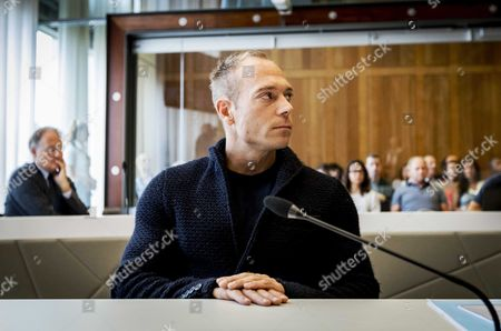 Stock Photo of Dutch Gymnast Yuri Van Gelder 33 Awaits the Start of Proceedings at the Courthouse in Arnhem 12 August 2016 Gelder who was Sent Home From the Olympic Games in Rio For Going out and Drinking Beers Without Consent of the Team Management is Taking Legal Action Against the Dutch Olympic Committee He Plans to Continue Training in the Hope He Will Be Allowed to Return to Rio in Time to Compete in Next Week's Still Lrings Final Netherlands Arnhem
