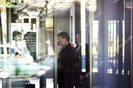 Stock Picture of Nout Wellink President of the Dutch Central Bank (de Nederlandsche Bank) is Pictured Behind the Windows of the Head Office in Amsterdam Netherlands 12 October 2009 the Dutch Bank Dsb is Put Under Legal Guardianship Netherlands Amsterdam