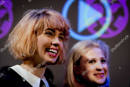 Nadezhda 'Nadya' Tolokonnikova (l) and Maria 'Masha' Alyokhina (r) of the Russian Punk Band Pussy Riot Attend a Press Conference at the International Film Festival Rotterdam (iffr) the Netherlands 28 January 2015 the Members of the Russian Punkband Were Invited by the Festival to Talk About the Themes of the Festival Feminism Propaganda and Political Imaging Netherlands Rotterdam