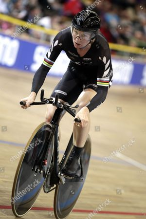 Alison Shanks (nzl) During the Women's Individual Pursuit at the Uci Track Cycling World Championships in Apeldoorn Netherlands 25 March 2011 Netherlands Apeldoorn