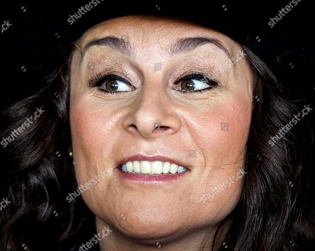 Dutch Singer Trijntje Oosterhuis Smiles Before Her Departure to Vienna at Schiphol Airport the Netherlands 10 May 2015 Oosterhuis Will Represent the Netherlands at the 60th Annual Eurovision Song Contest in Vienna Austria the Event's Final Will Be Held on on 23 May Netherlands Schiphol