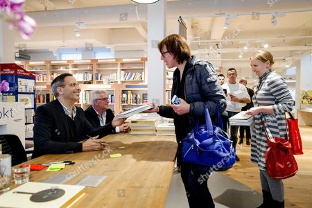 Israeli-british Cook Yotam Ottolenghi the Author of the Bestsellers Plenty and Plenty More Signs His Book at the Bookstore Scheltema in Amsterdam the Netherlands 03 March 2016 Netherlands Amsterdam