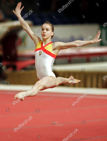 Spanish Elena Gomez During Her Performance on the Floor Friday 30 April at the European Championship Gymnastics in Amsterdam Epa/toussaint Kluiters Netherlands Amsterdam