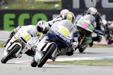 Spanish Winner Maverick Vinales Leads Before Luis Salom (second) and Sergio Gadea (l Third) During the 125cc of the Dutch Tt in Assen Netherlands 25 June 2011 Netherlands Assen