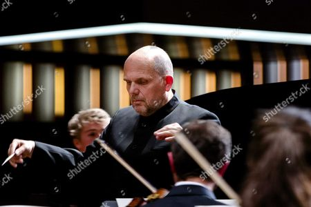 Stock Picture of Dutch Conductor Jaap Van Zweden During a Benefit Performance For the Papageno Foundation in the Rai Amsterdam the Netherlands 05 April 2016 It was Van Zweden's First Performance As Conductor of the New York Philharmonic in the Netherlands Netherlands Amsterdam