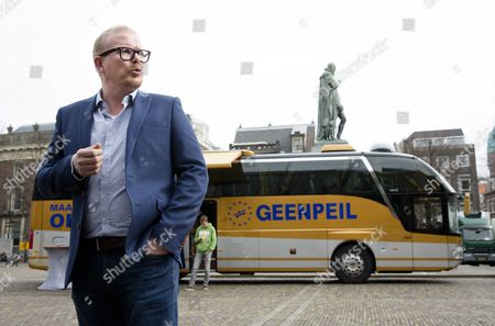 Geenpeil Frontman Jan Roos During the Nationwide Bus Tour of Geenpeil Initiator of the Dutch Referendum on the Eus Treaty of Association with Ukraine in the Hague During the Nationwide Tour in the Hague the Netherlands 05 April 2016 the Referendum is Scheduled on 06 April 2016 to Decide in Favor Or Against the Ratification of the Association Agreement Between the Eu and Ukraine Netherlands the Hauge