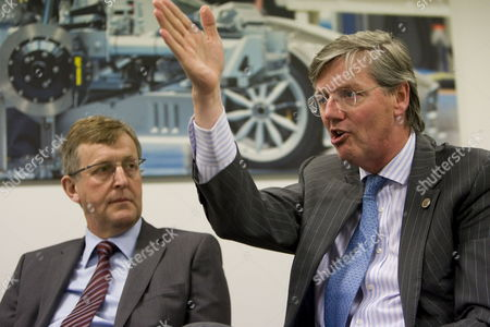Saab and Spyker Executives Jan Ake Jonsson (l) and Victor Muller (r) Speak at a Press Conference After a Shareholders Meeting in Zeewolde the Netherlands on 22 April 2010 Spyker Chief Executive Victor Muller Said Saab's Break Even Point Should Be Sales of 85 000 Cars a Year by 2012 Netherlands Zeewolde