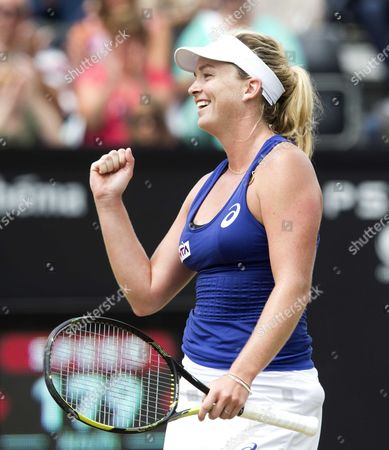 Us Coco Vandeweghe Jubilates After Winning the Final of the Topshelf Open Tennis Tournament in Rosmalen the Netherlands on Saturday 21 June 2014 Vandeweghe Defeated Chinese Jie Zheng in 2 Sets 6-2 6-4 Netherlands Rosmalen