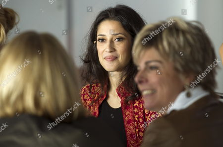 Dutch Princess Laurentien (r) Meets Pakistani Poet and Writer Fatima Bhutto (c) at 'The Women's Conference 2011' in Amsterdam the Netherlands 23 November 2011 Netherlands Amsterdam