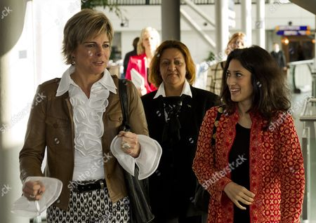 Dutch Princess Laurentien (l) Meets Pakistani Poet and Writer Fatima Bhutto (r) at 'The Women's Conference 2011' in Amsterdam the Netherlands 23 November 2011 Netherlands Amsterdam