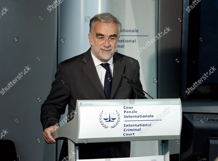 International Criminal Court Prosecutor Prosecutor Luis Moreno Ocampo During a Press Conference About Icc-cases in the Hague the Netherlands 12 June 2012 Luis Moreno Ocampo Presumes That the Violence After the Elections in Kenya at the End of 2007 Will Go on Until the Next Elections in 2013 the Icc is Deliberating on Trial Dates For the Four Kenyans Accused of Crimes Netherlands the Hague