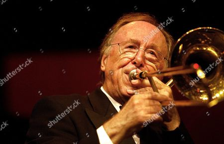 Stock Photo of The Legendary Jazz Musician Chris Barber 72 Performs During a Concert During the Jazz Night in Breda Late Saturday 31 May 2003 Barber Celebrated His 50th Anniversary As a Musician Barber Gave His First Concert on 31 May 1953 Epa-photo/anp/robert Vos Netherlands Breda
