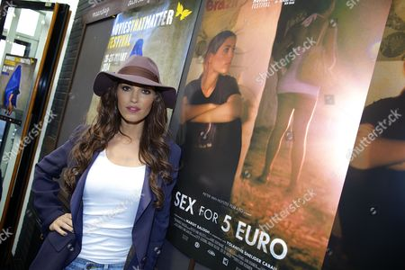 Dutch Actress Yolanthe Sneijder-cabau Wife of Dutch Soccer Player Wesley Sneijder Arrives at the Movies That Matter Festival For the Premiere of Sex Voor 5 Euro (sex For 5 Euro) in the Hague the Netherlands 23 March 2014 the Documentary Tells the Story About Child Prostitution in Brazil Yolanthe Went to Brazil Looking For Underaged Prostitutes For the Film Netherlands the Hague