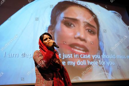 Afghan Refugee and Rapper Sonita Alizadeh Raps After the Screening of the Documentary Film 'Sonita' at the International Documentary Filmfestival Amsterdam (idfa) in Amsterdam the Netherlands 23 November 2015 the Documentary Tells the Story of Sonita Alizadeh 19 who was Just Ten Years Old when Her Muslim Parents First Attempted to Sell Her Into Marriage and who is Now an Activist Against Forced Marriages Netherlands Amsterdam