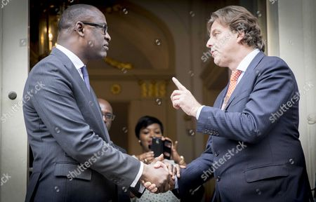 Dutch Minister of Foreign Affairs Bert Koenders (r) Receives His Counterpart Abdoulaye Diop (l) of Mali in the Hague the Netherlands 24 October 2016 the Minister Will Talk About the Relation Between the Netherlands and Mali Dutch Efforts in the Peace Process and the Importance of the Un Mission Minusma Stability in Mali Netherlands the Hague