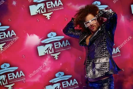 Stefan Kendal Gordy Aka Lmfao-rapper Redfoo on the Red Carpet Prior to the Mtv Europe Music Awards 2013 Ceremony in the Ziggo Dome Amsterdam the Netherlands 10 November 2013 Netherlands Amsterdam
