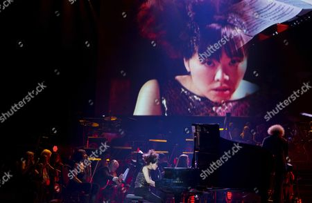 Japanese Jazz Pianist Hiromi Uehara (c) Performs During the Night of the Proms at the Ahoy in Rotterdam the Netherlands 22 November 2013 the Annual Series of Concerts Runs Until 23 November Netherlands Rotterdam
