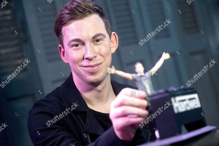 Dutch Deejay Hardwell Poses with the First Action Figures of Him Self in Amsterdam the Netherlands 19 November 2015 Netherlands Amsterdam