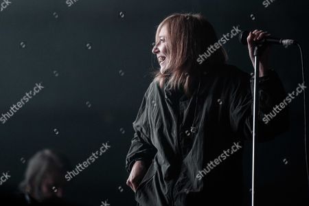 Stock Image of Singer Beth Gibbons of British Band Portishead Performs During the 'Lowlands' Music Festival in Biddinghuizen the Netherlands 17 August 2014 the Annual Event One of the Biggest Music Festival in the Netherlands Runs From 15 to 17 August Netherlands Biddinghuizen