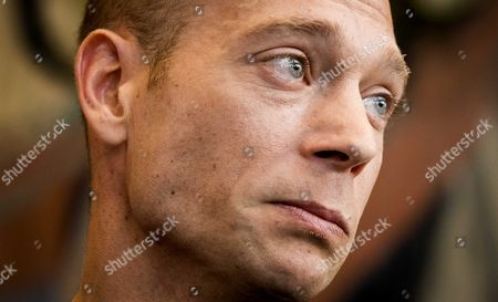 Stock Photo of Dutch Gymnast Yuri Van Gelder Reacts After the Proceedings at the Courthouse in Arnhem the Netherlands 12 August 2016 Gelder S Trying to Legally Challenge the Decision to Ban Him From Competing at the Olympic Games He was Sent Home For Violating Team Rules by Going out and Drinking Alcohol After Qualifying For the Finals of the Rings Event Netherlands Arnhem