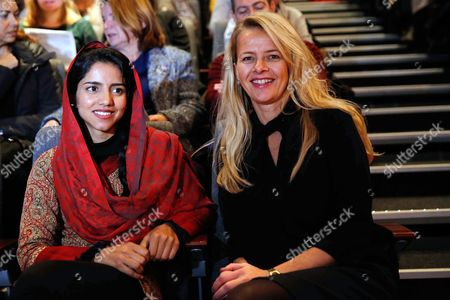Dutch Princess Mabel (r) and Afghan Refugee and Rapper Sonita Alizadeh Smile Prior to the Screening of the Documentary Film 'Sonita' at the International Documentary Filmfestival Amsterdam (idfa) in Amsterdam the Netherlands 23 November 2015 the Documentary Tells the Story of Sonita Alizadeh 19 who was Just Ten Years Old when Her Muslim Parents First Attempted to Sell Her Into Marriage and who is Now an Activist Against Forced Marriages Netherlands Amsterdam