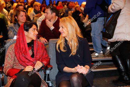 Dutch Princess Mabel (r) and Afghan Refugee and Rapper Sonita Alizadeh Chat Prior to the Screening of the Documentary Film 'Sonita' at the International Documentary Filmfestival Amsterdam (idfa) in Amsterdam the Netherlands 23 November 2015 the Documentary Tells the Story of Sonita Alizadeh 19 who was Just Ten Years Old when Her Muslim Parents First Attempted to Sell Her Into Marriage and who is Now an Activist Against Forced Marriages Netherlands Amsterdam