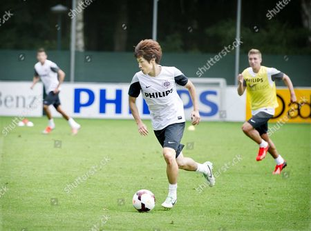 South Korean Soccer Player Ji-sung Park During His First Training Session with Psv Eindhoven Eindhoven the Netherlands 08 August 2013 the 32-year Old Midfielder is on Loan From Queens Park Rangers For One Year Park Played Already For Psv Eindhoven Between 2003 and 2005 Netherlands Borculo