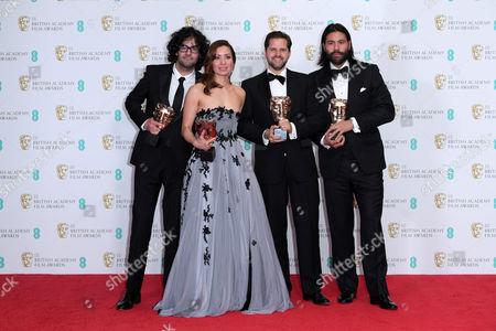 Babak Anvari, Emily Leo, Oliver Roskill and Lucan Toh - Outstanding British Film Award - 'Under The Shadow'