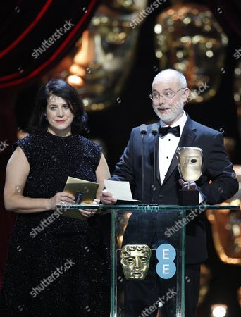 Anna Pinnock and James Hambidge, winners of the 'Production Design' award for 'Fantastic Beasts And Where To Find Them'