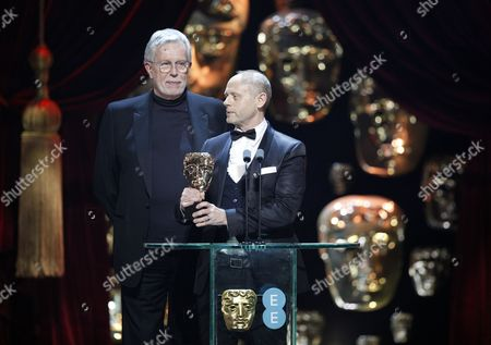 """J Roy Helland and Daniel Phillips winners of """"Make up & Hair' award for 'Florence Foster Jenkins'"""