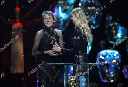 Madeline Fontaine, winner of 'Costume Design' for 'Jackie' and Sophie Turner