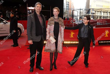 Stock Picture of (L-R) Hungarian actor Geza Morcsanyi, Hungarian actress Reka Tenki and Hungarian director Ildiko Enyedi arrive for the premiere of 'Testrol es Lelekrol' (On Body and Soul) during the 67th annual Berlin Film Festival, in Berlin, Germany, 10 February 2017. The movie is presented in the Official Competition at the Berlinale that runs from 09 to 19 February.