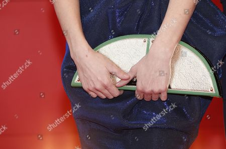 A detail from the purse of Slovakian actress Alexandra Borbely during the premiere of 'Testrol es Lelekrol' (On Body and Soul) during the 67th annual Berlin Film Festival, in Berlin, Germany, 10 February 2017. The movie is presented in the Official Competition at the Berlinale that runs from 09 to 19 February.