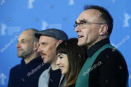 (L-R) British actor Jonny Lee Miller, British actor Ewen Bremner,  Bulgarian actress Anjela Nedyalkova and British director Danny Boyle pose during the photocall for 'T2 Trainspotting' during the 67th annual Berlin Film Festival, in Berlin, Germany, 10 February 2017. The movie is presented in the Official Competition at the Berlinale that runs from 09 to 19 February.