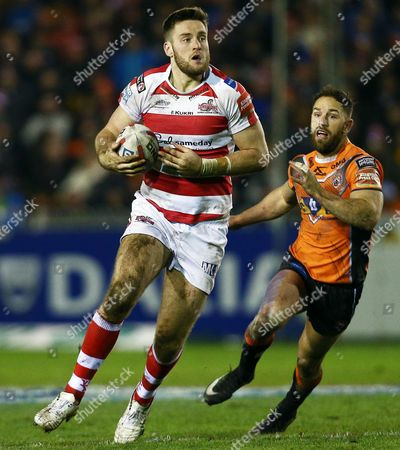 James Green of Leigh Centurions during the Betfred Super League match between Castleford Tigers and Leigh Centurions played at the Mend-A-Hose Jungle, Castleford, on 10th February 2017