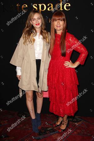 Deborah Lloyd (designer) and Leighton Meester
