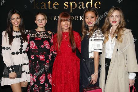Victoria Justice, Jennifer Morrison, Deborah Lloyd (designer), Jamie Chung, Leighton Meester