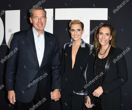 Brian Williams, daughter Allison Williams and wife Jane Williams